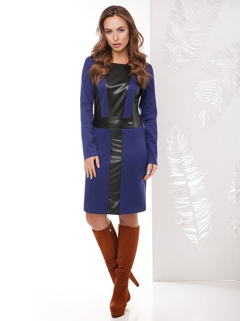 Сукня гірчичного синя | 4151496