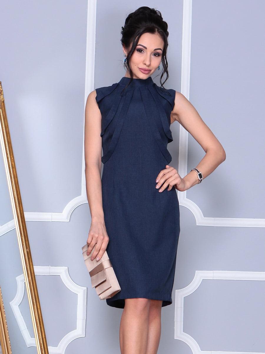 Платье темно-синее | 4152464 | фото 3