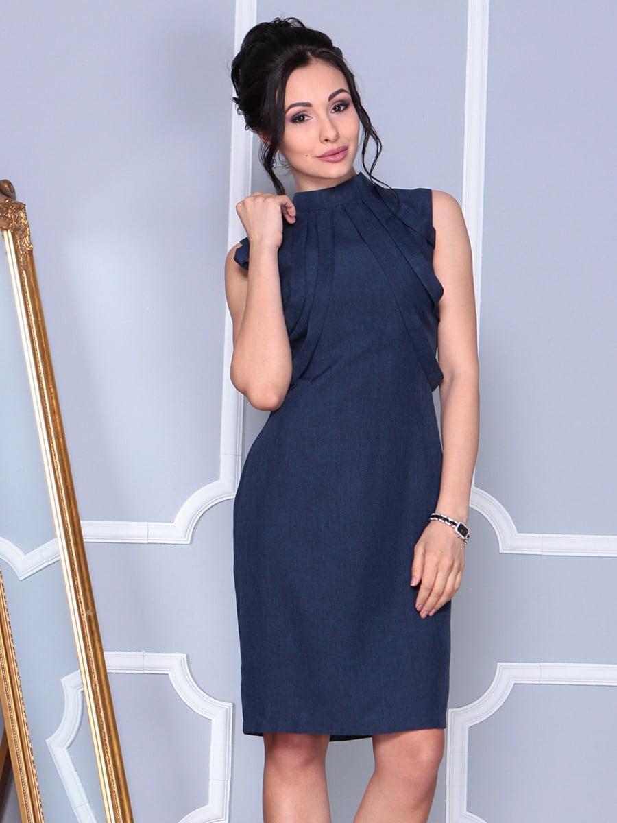 Платье темно-синее | 4152464 | фото 4