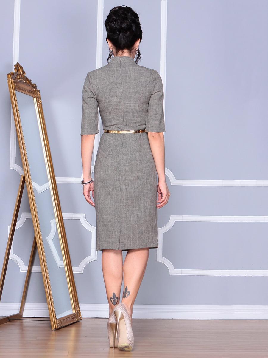 Платье цвета бежевый хаки | 4152476 | фото 2