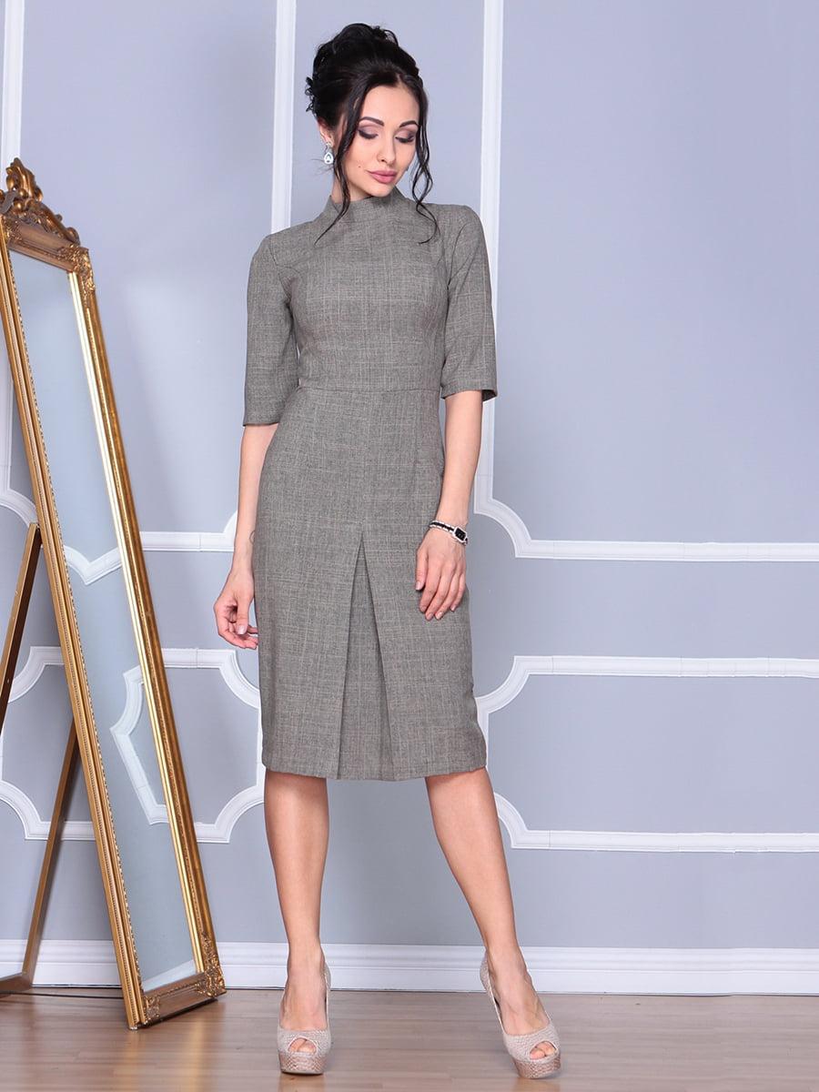 Платье цвета бежевый хаки | 4152476 | фото 4