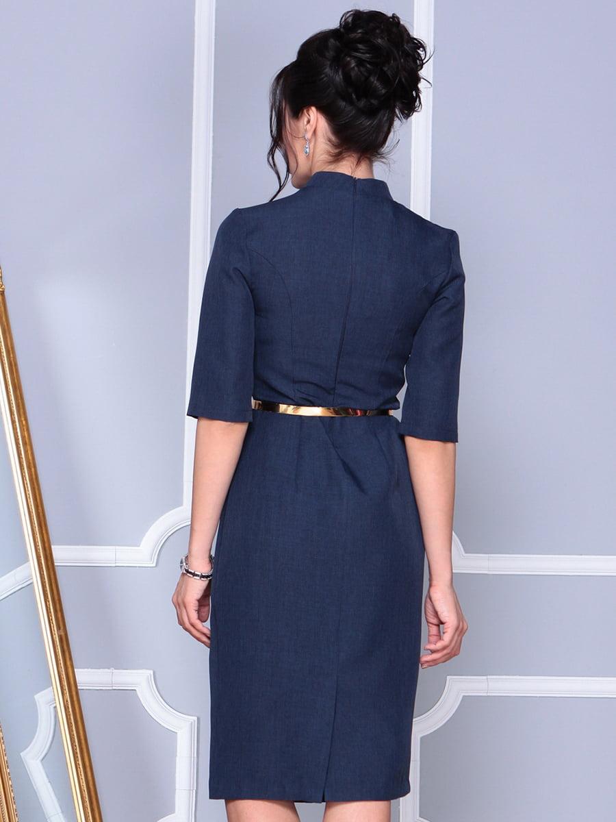 Платье темно-синее   4152478   фото 2