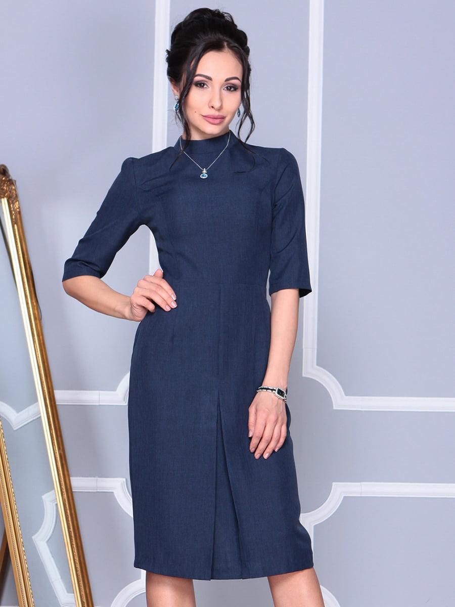 Платье темно-синее   4152478   фото 4