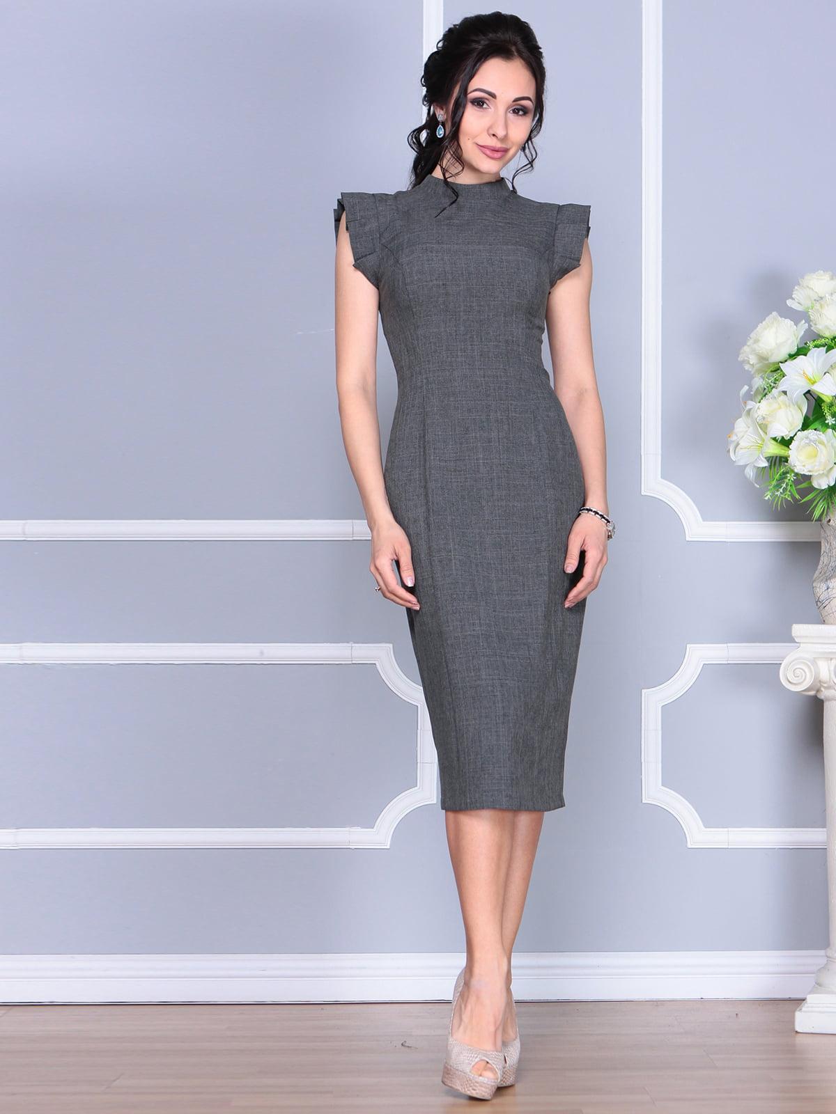 Платье графитового цвета | 4156780