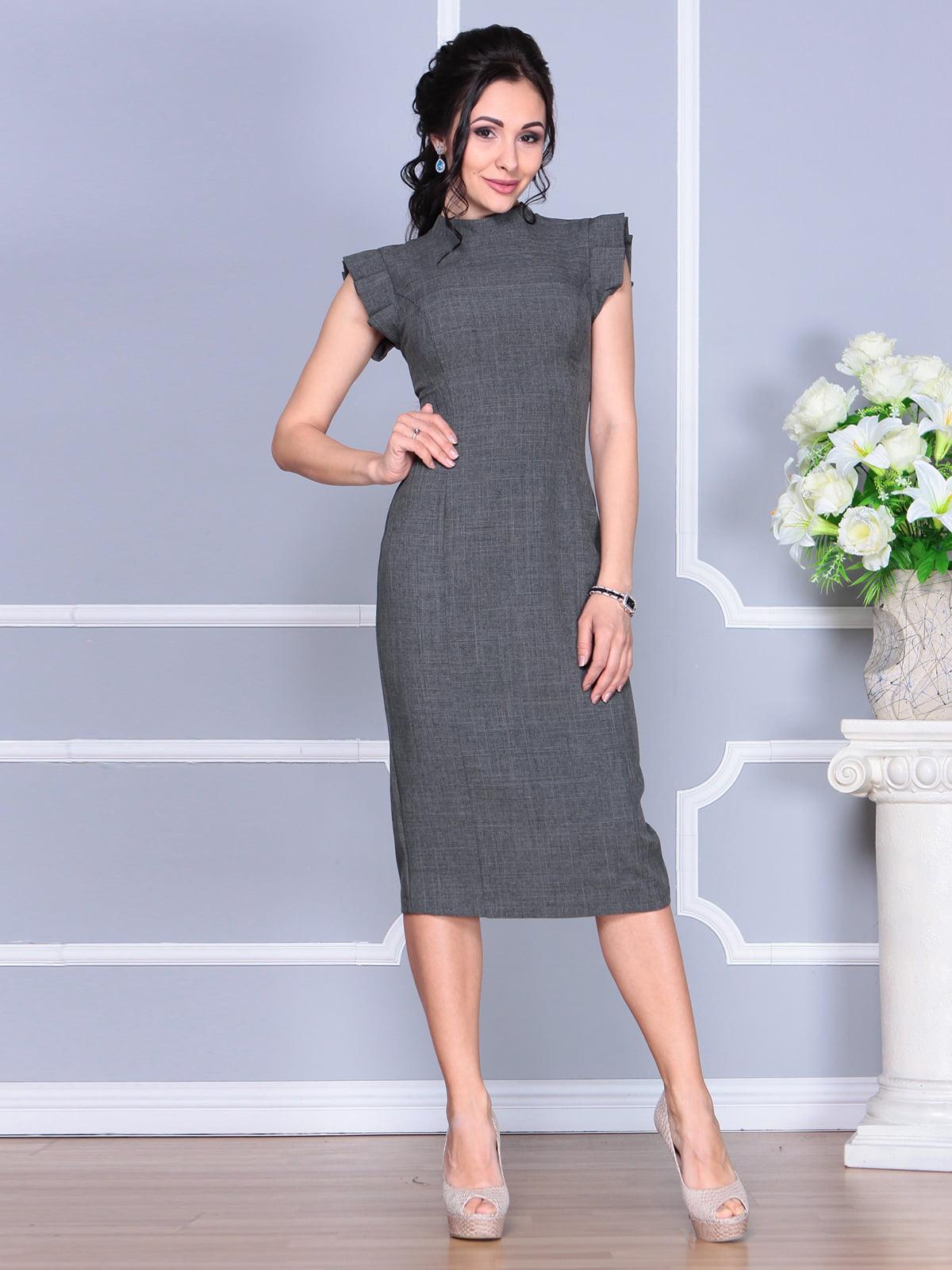 Платье графитового цвета | 4156780 | фото 3