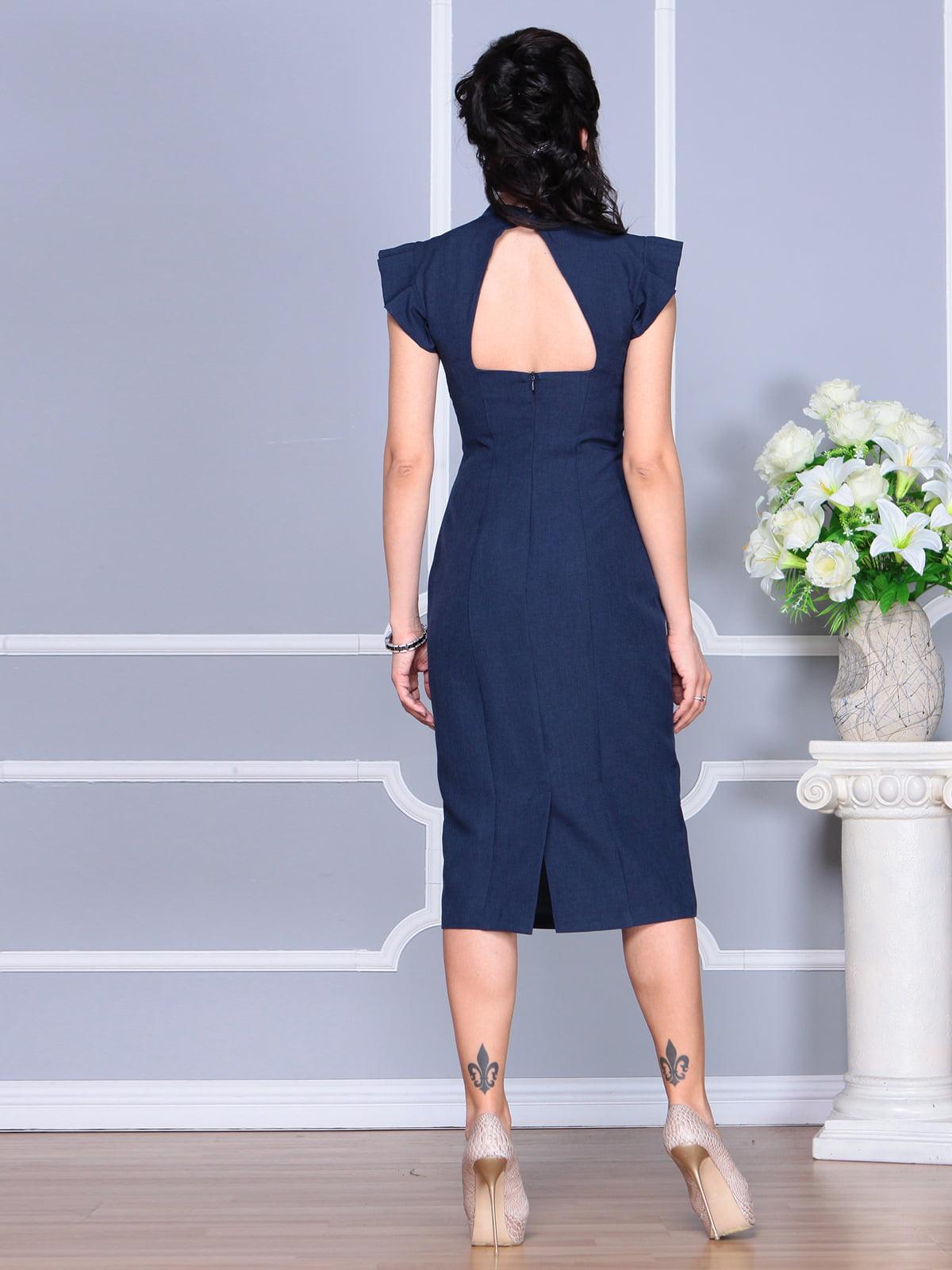 Платье темно-синее | 4156781 | фото 2