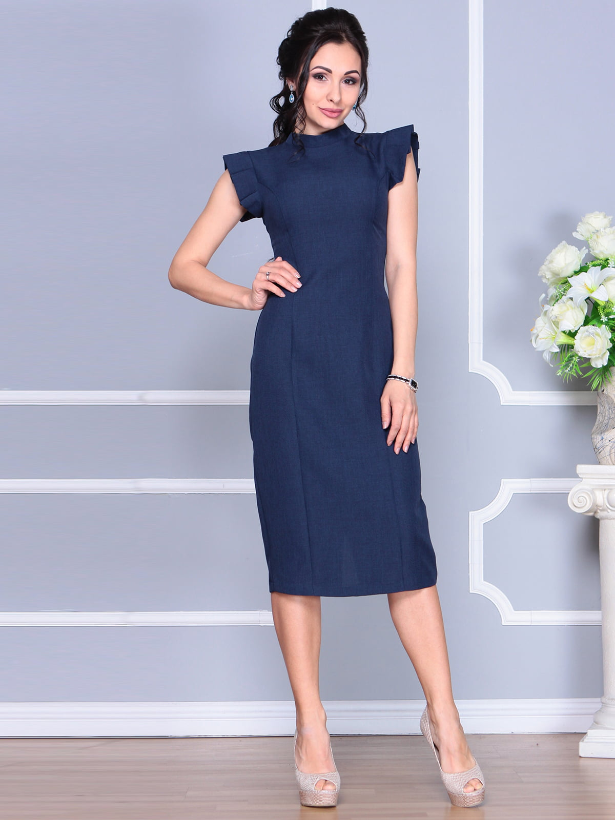 Платье темно-синее | 4156781 | фото 3