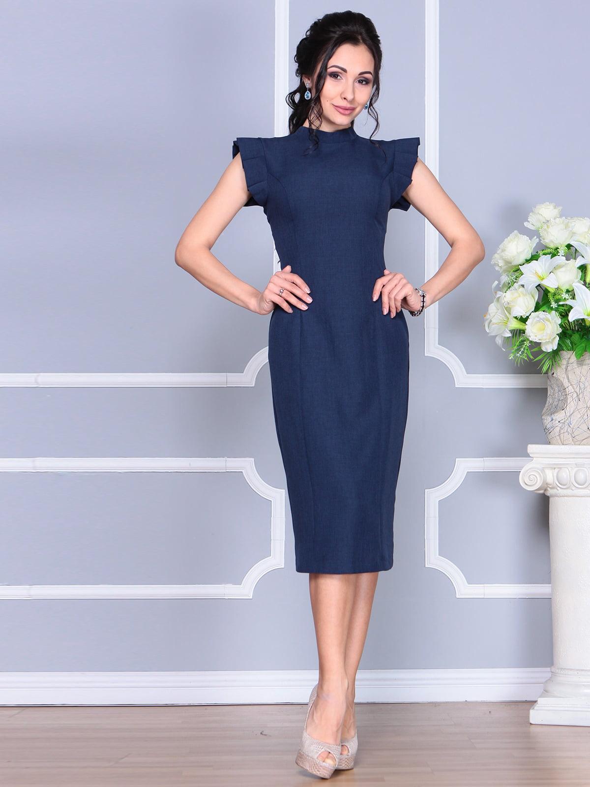 Платье темно-синее | 4156781 | фото 4