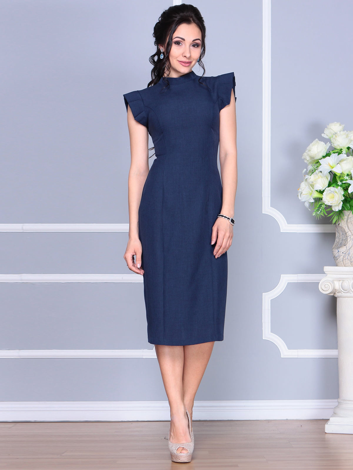 Платье темно-синее | 4156781 | фото 5