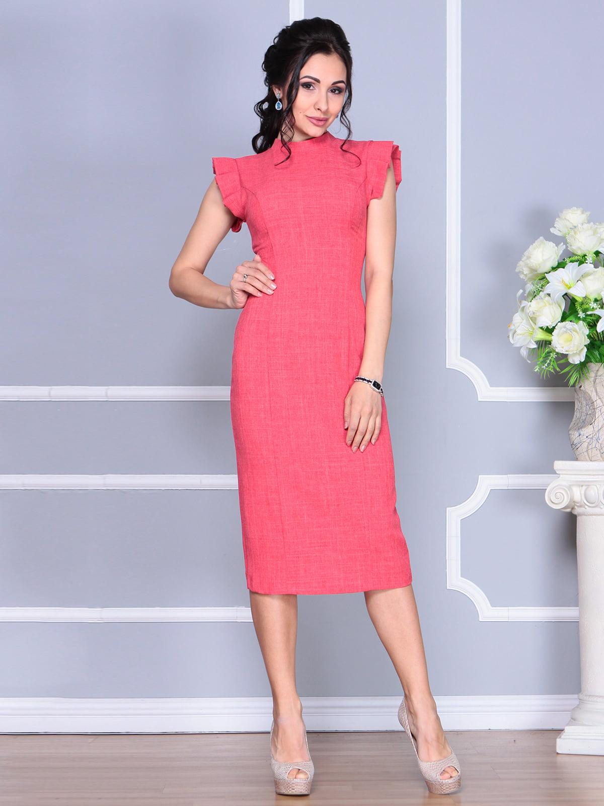 Сукня кольору червоний корал | 4156782