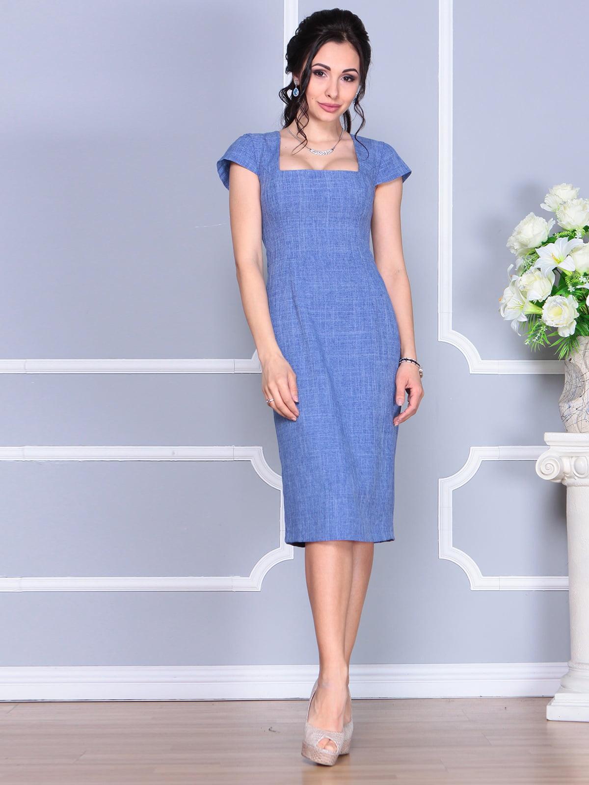 Платье синее | 4156785 | фото 3
