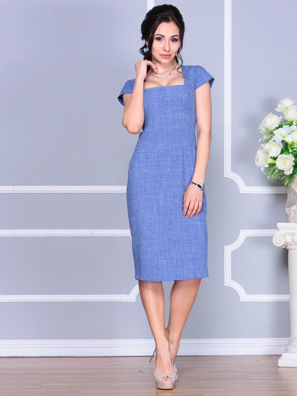 Платье синее | 4156785 | фото 4