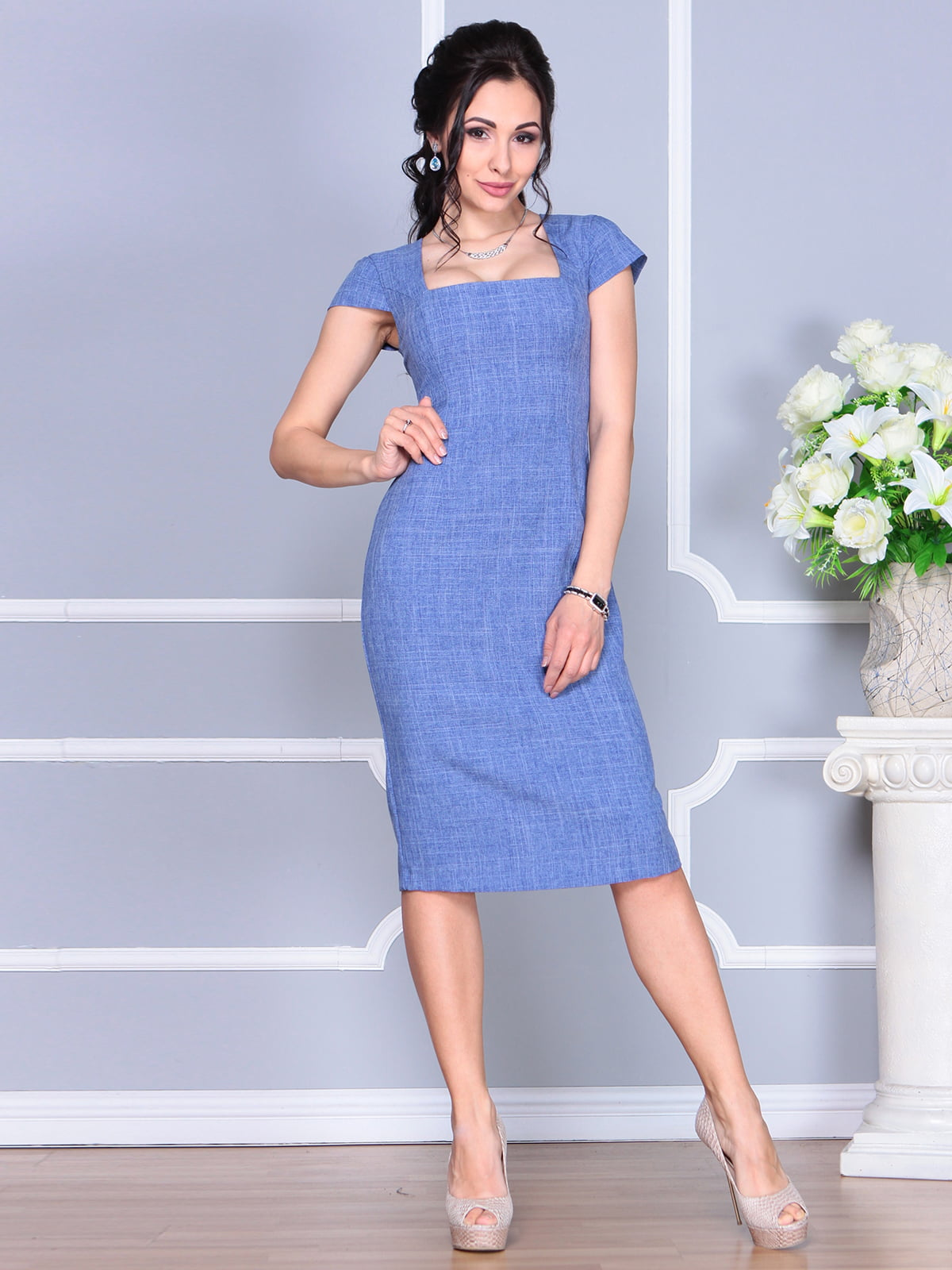 Платье синее | 4156785 | фото 5