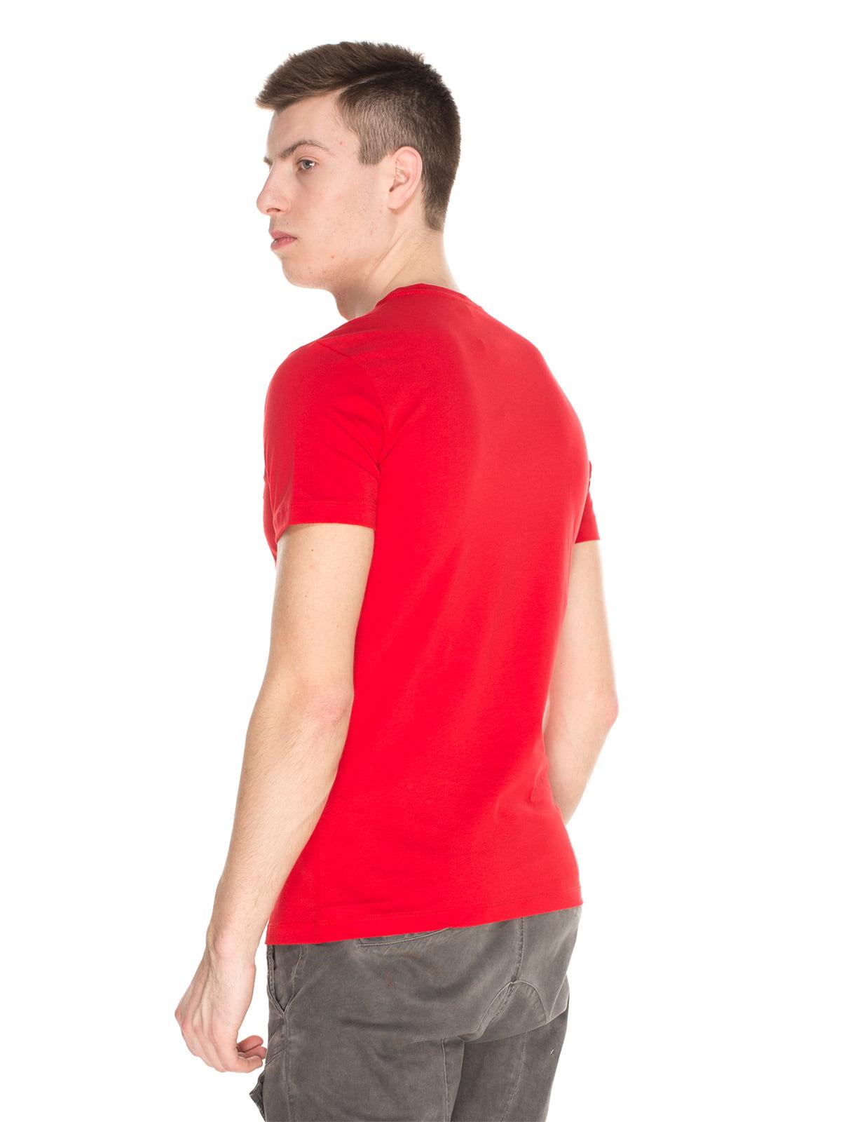 Футболка червона з принтом | 4152585 | фото 2