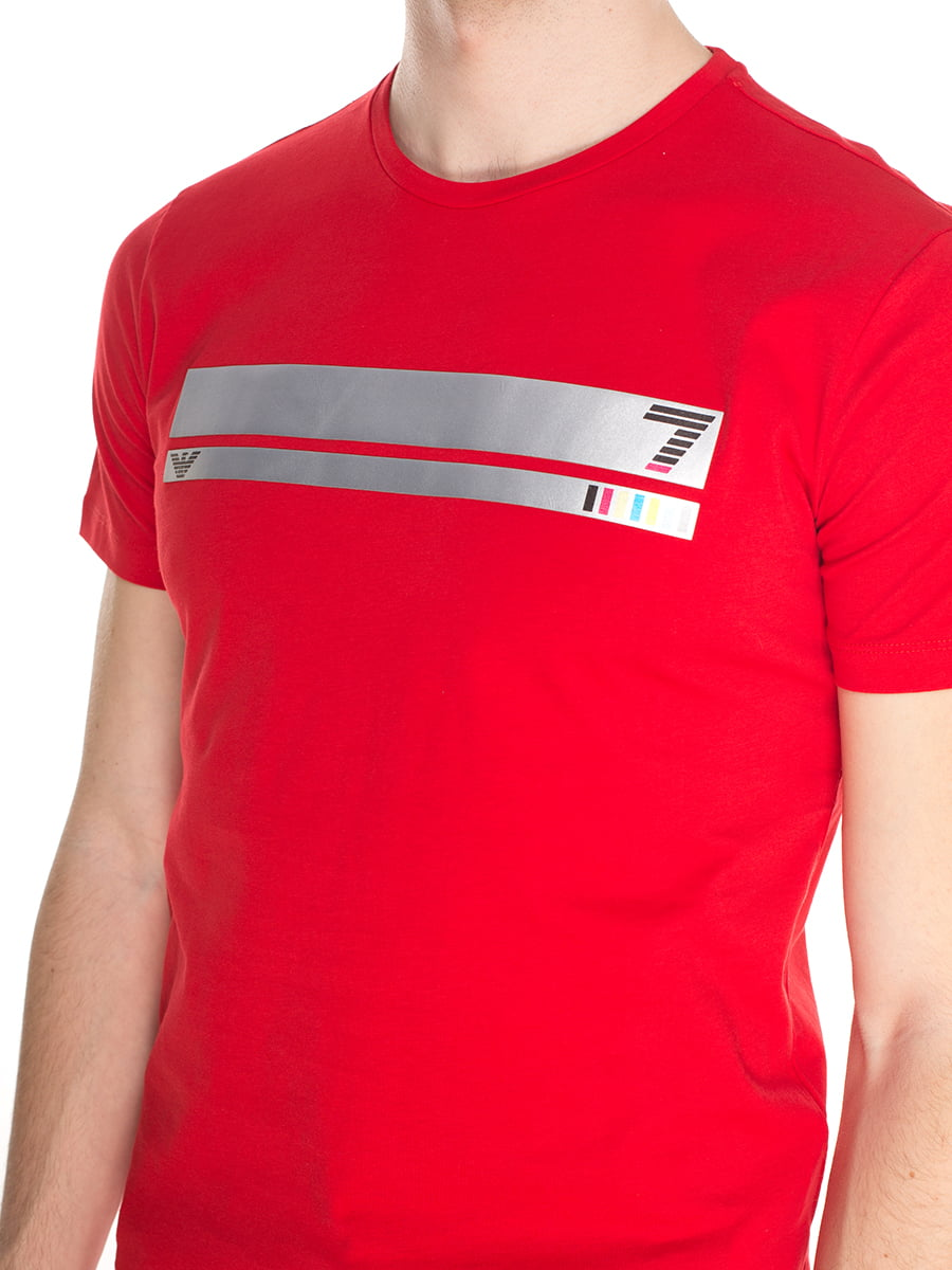 Футболка червона з принтом | 4152585 | фото 3