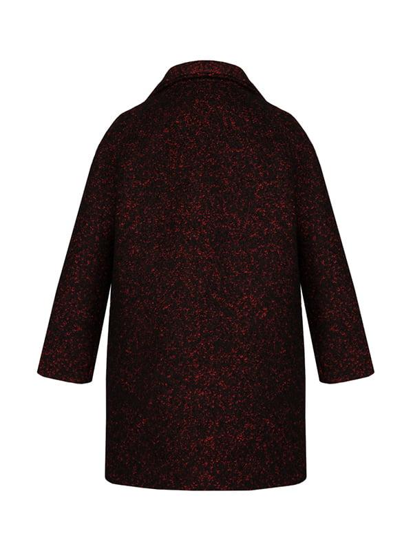 Пальто черно-красное | 4159138 | фото 2
