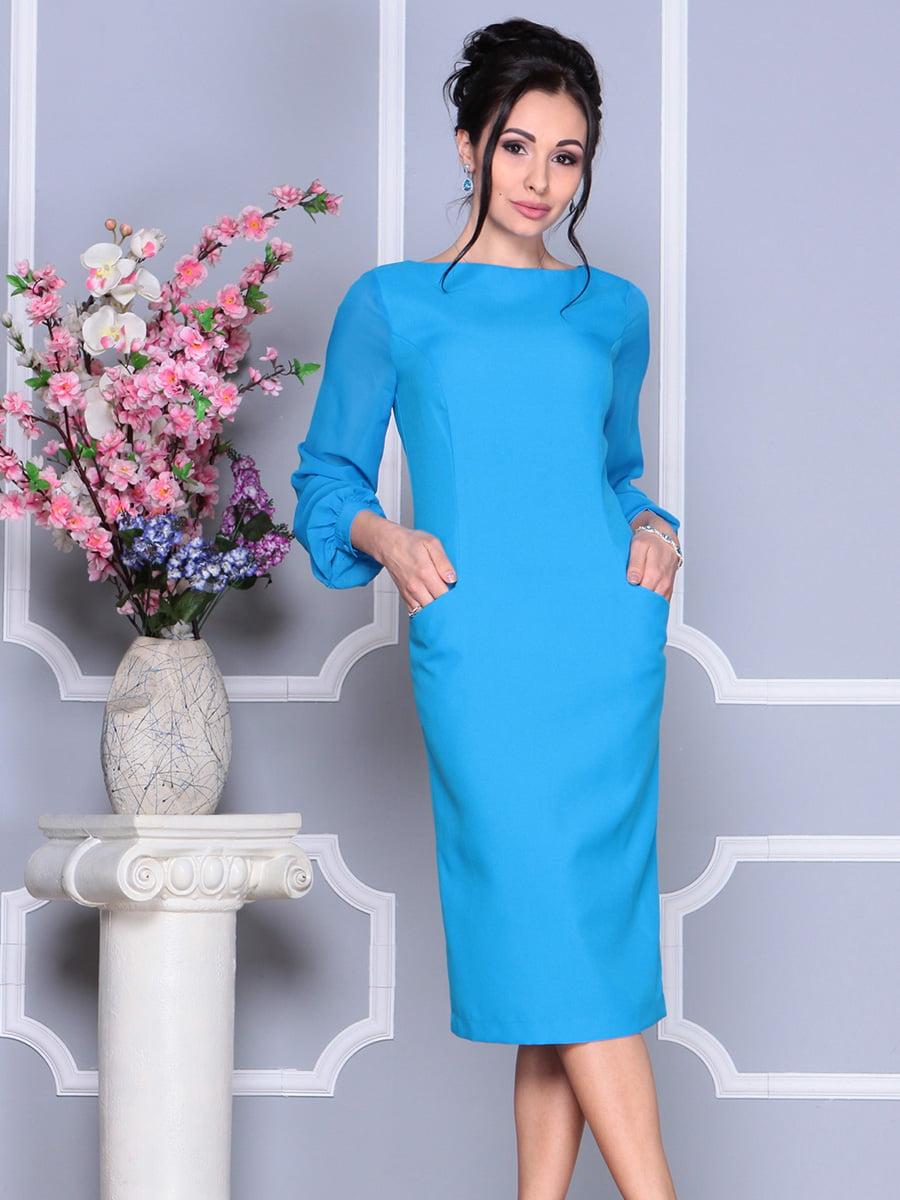 Платье бирюзовое | 4137098