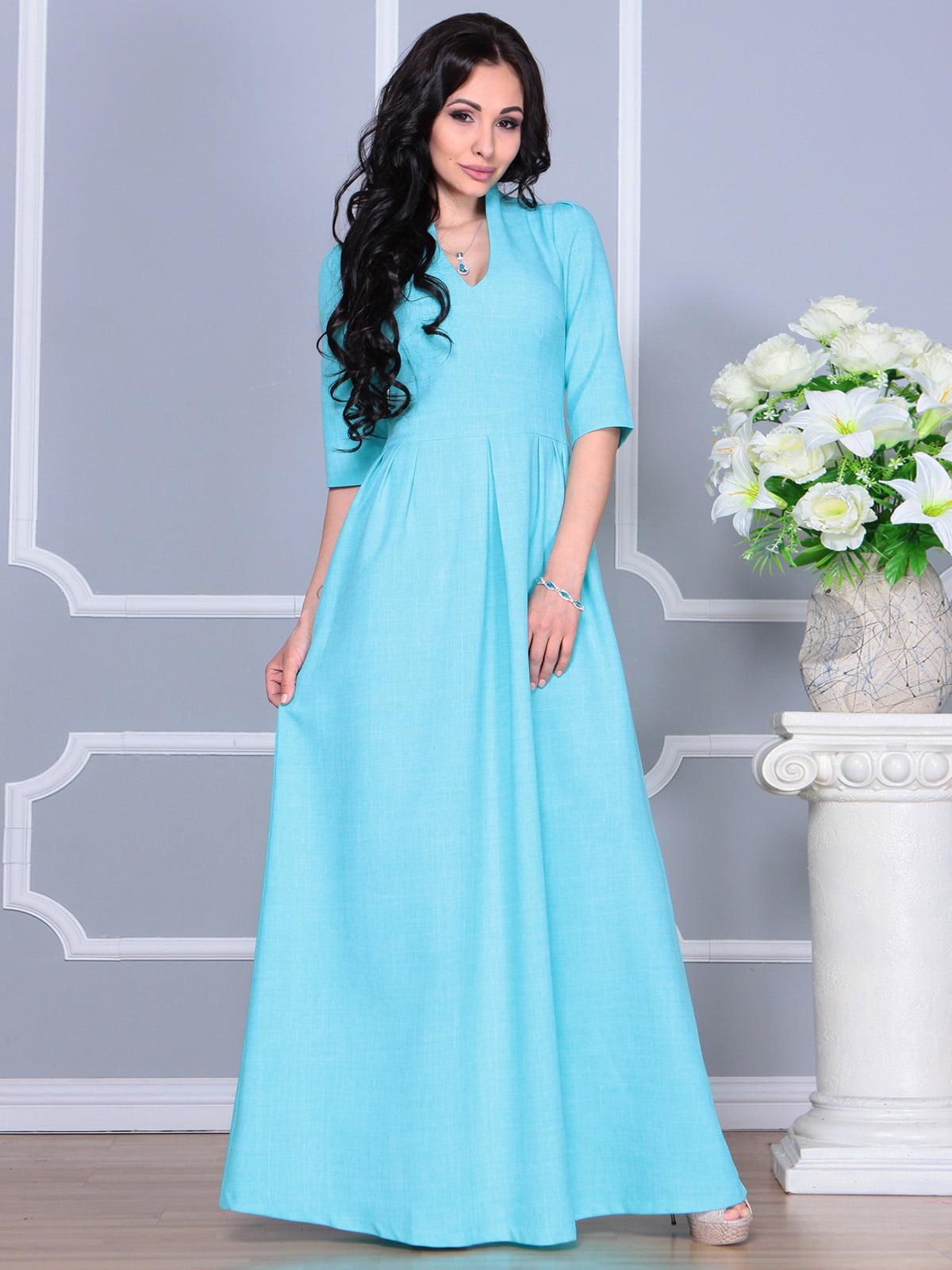 Платье ментолового цвета | 4160882