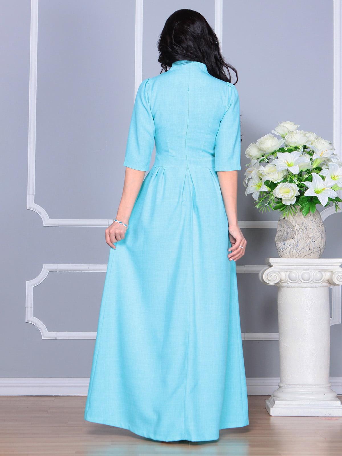 Платье ментолового цвета | 4160882 | фото 2