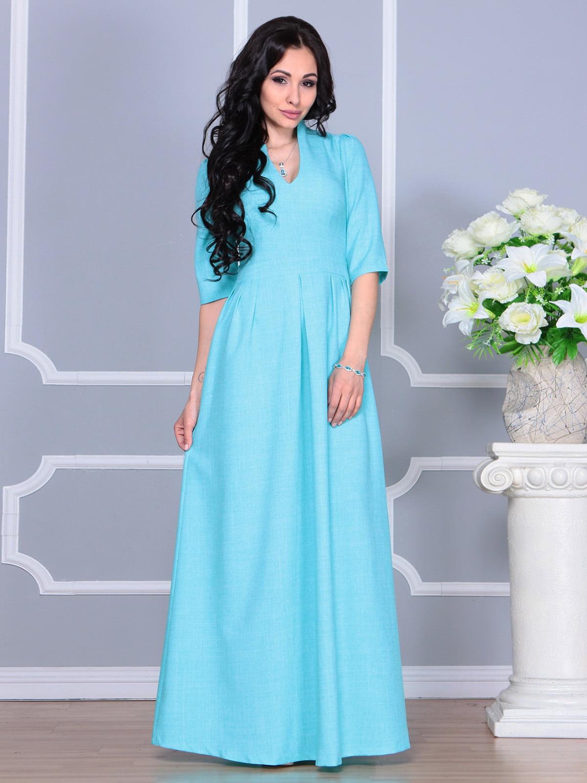 Платье ментолового цвета | 4160882 | фото 3