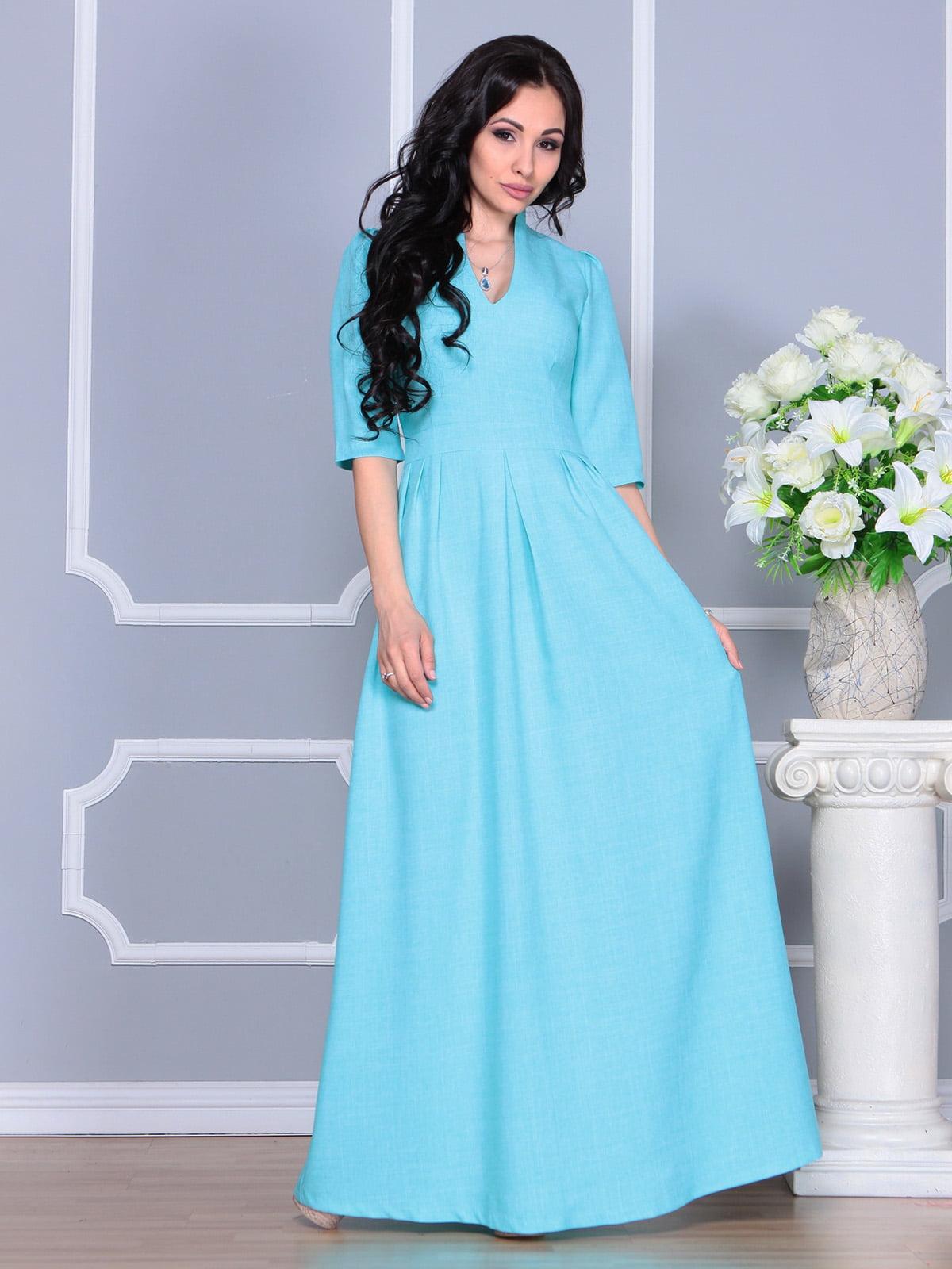 Платье ментолового цвета | 4160882 | фото 4