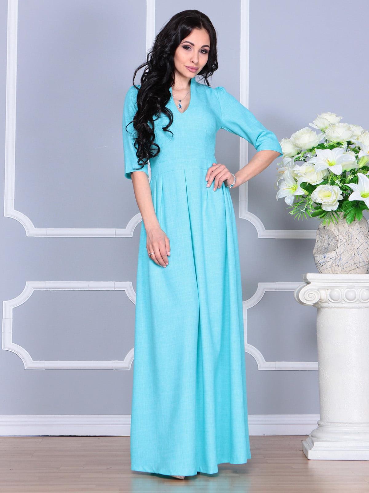 Платье ментолового цвета | 4160882 | фото 5