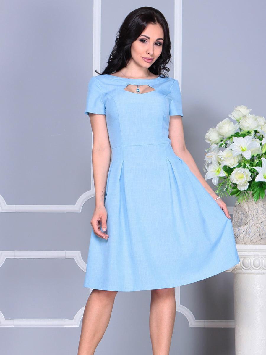 Платье голубое | 4160886