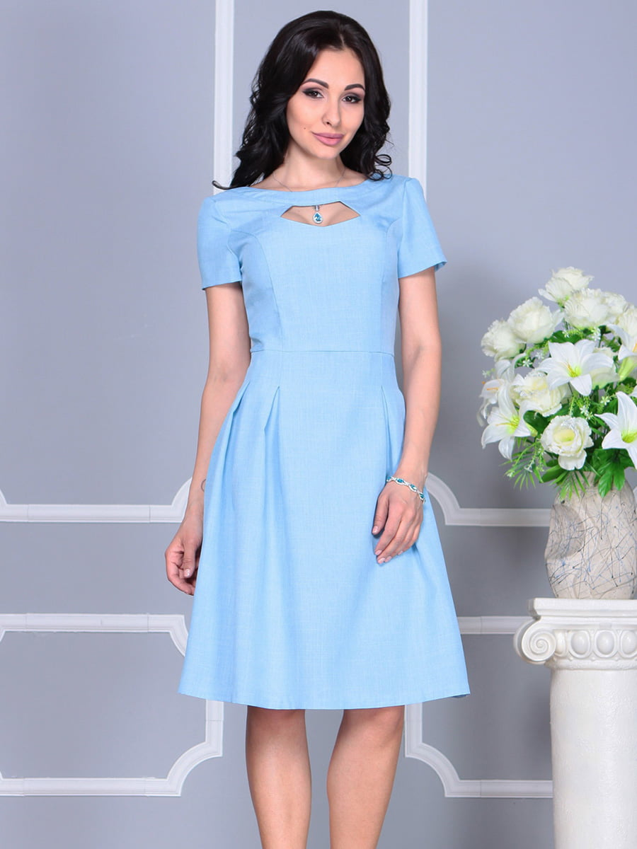 Платье голубое | 4160886 | фото 3