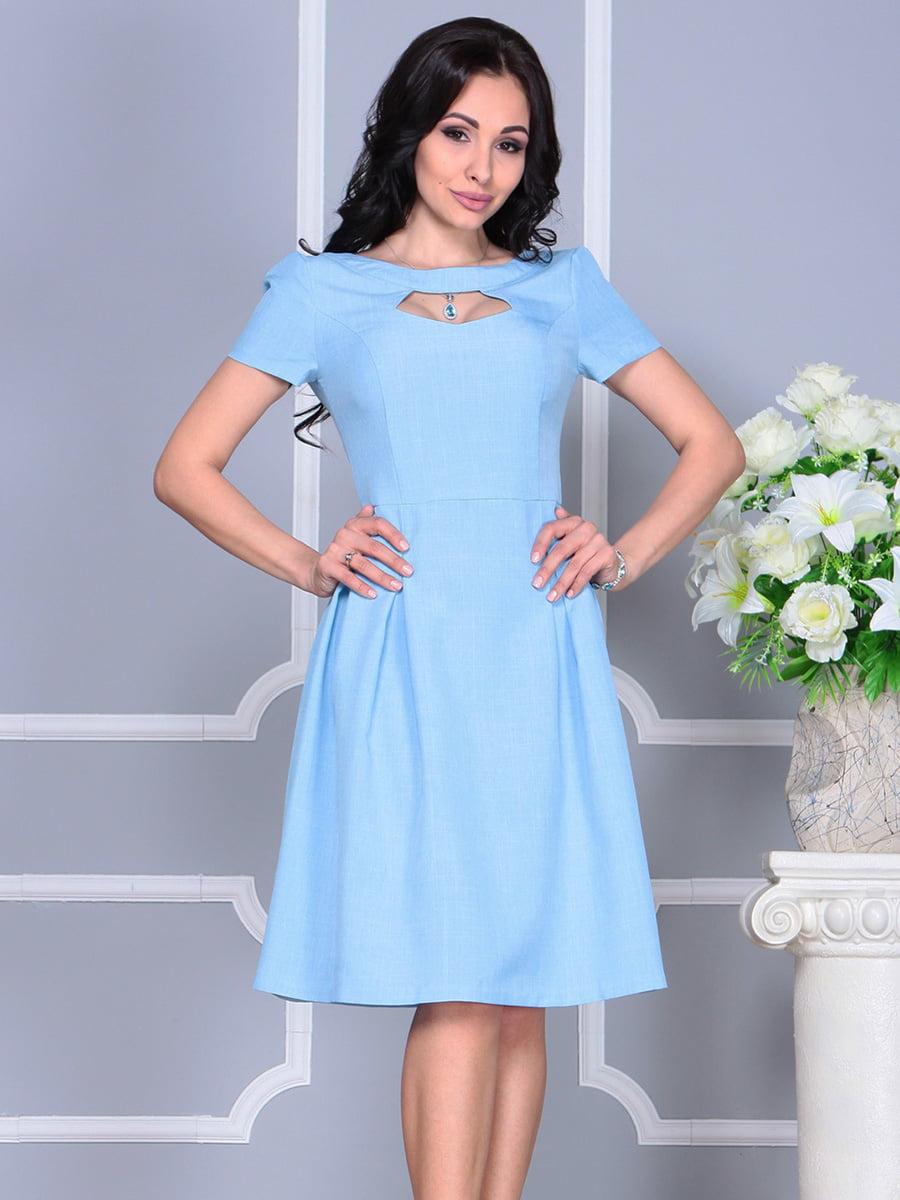 Платье голубое | 4160886 | фото 4