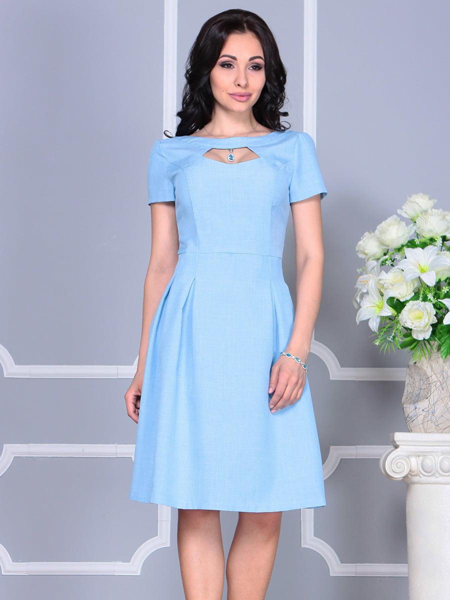Платье голубое | 4160886 | фото 5