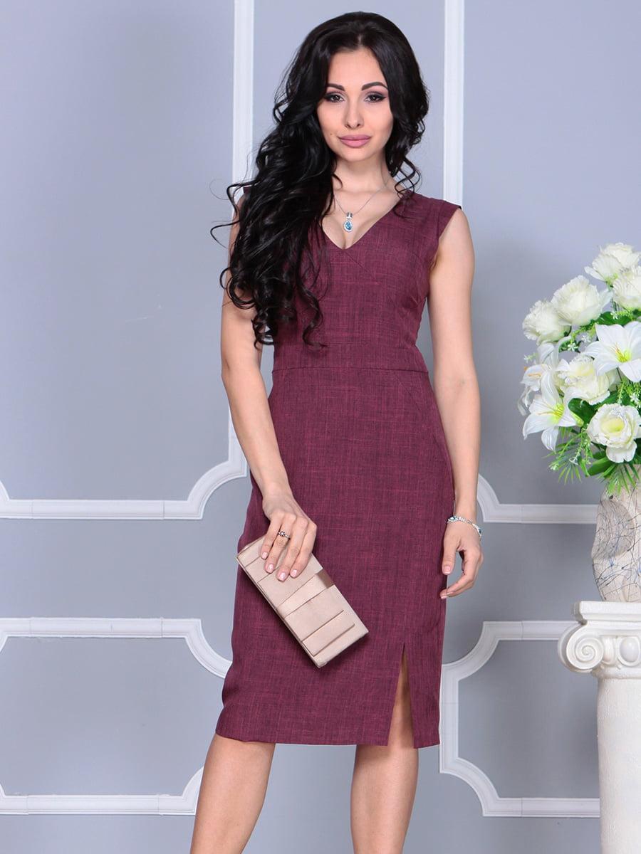 Платье темно-сливового цвета   4160892