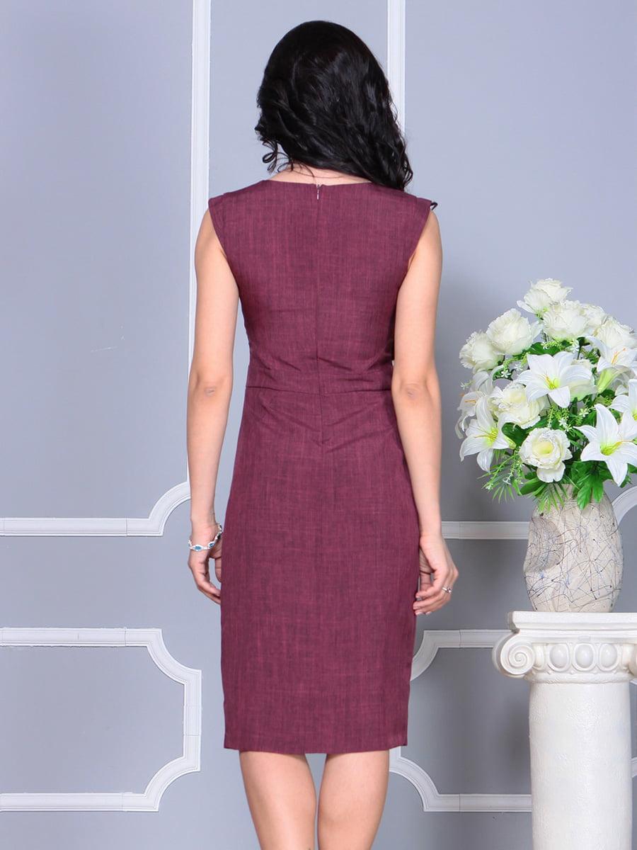 Платье темно-сливового цвета   4160892   фото 2