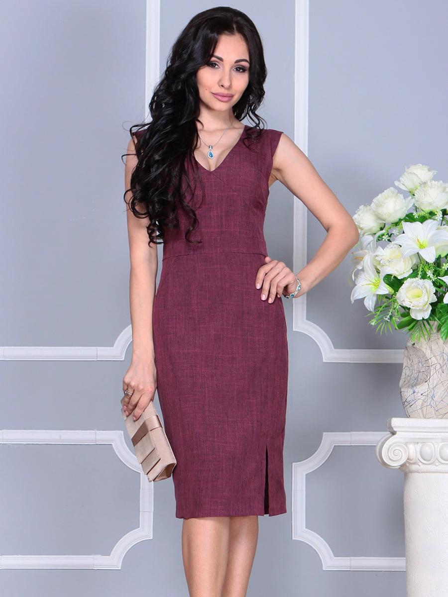 Платье темно-сливового цвета   4160892   фото 3