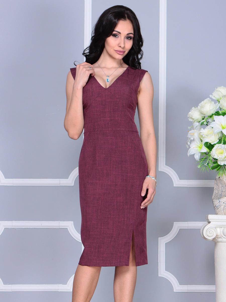 Платье темно-сливового цвета   4160892   фото 4