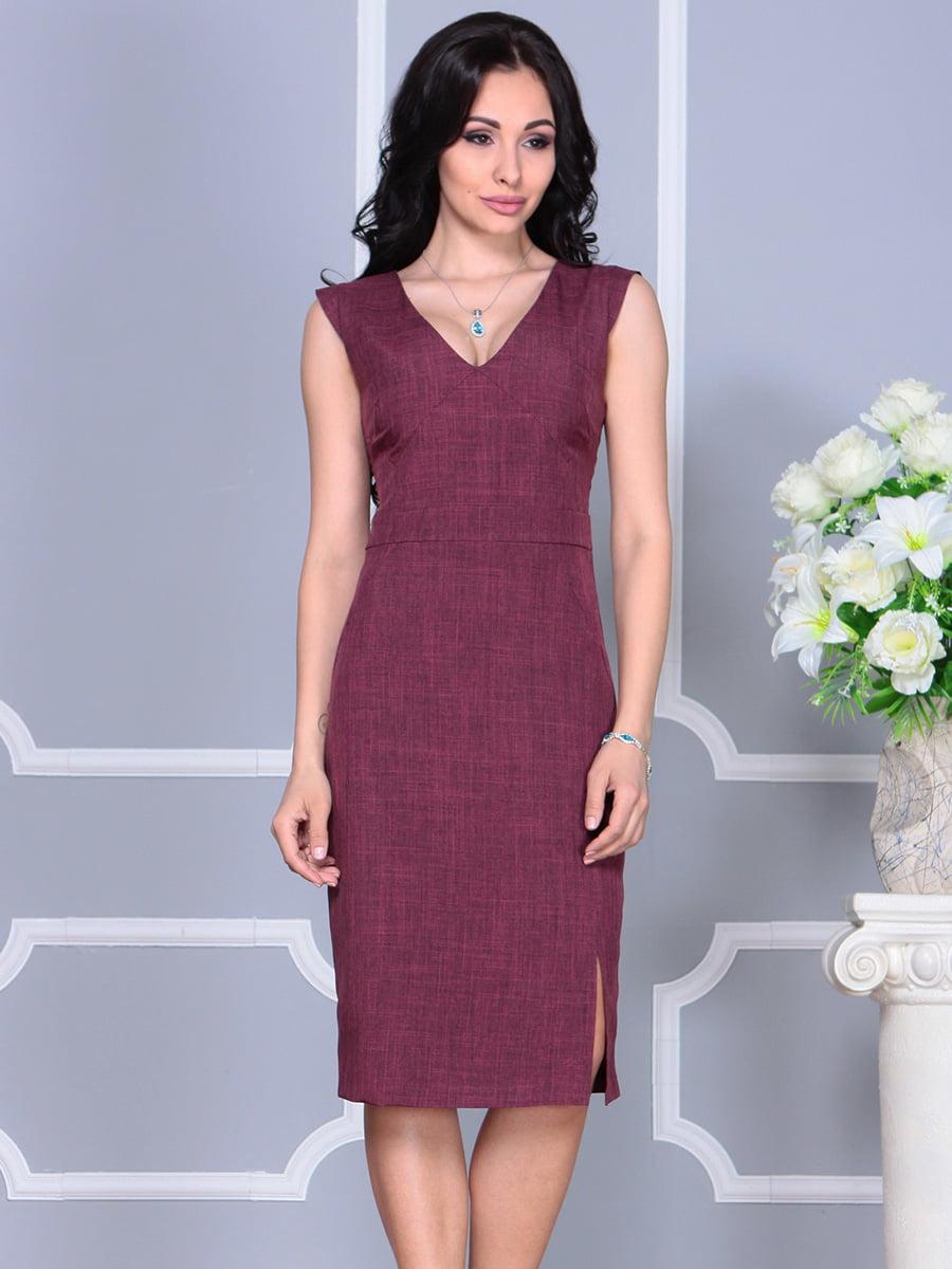 Платье темно-сливового цвета   4160892   фото 5