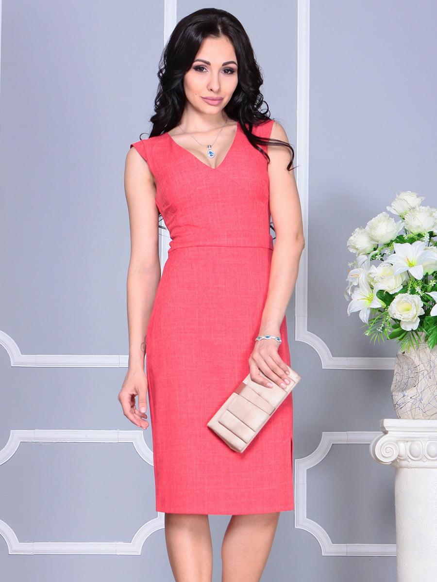 Платье цвета красный коралл | 4160893