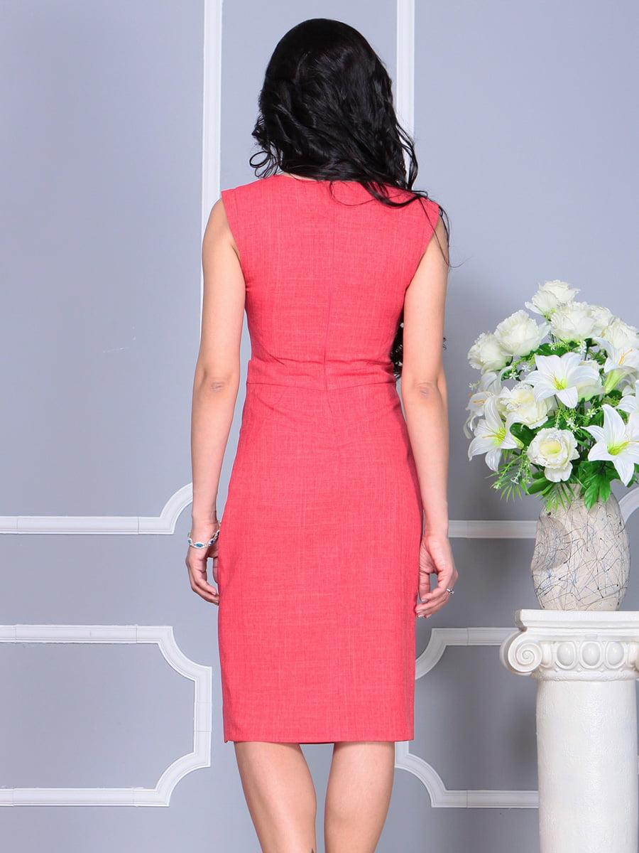Платье цвета красный коралл | 4160893 | фото 2