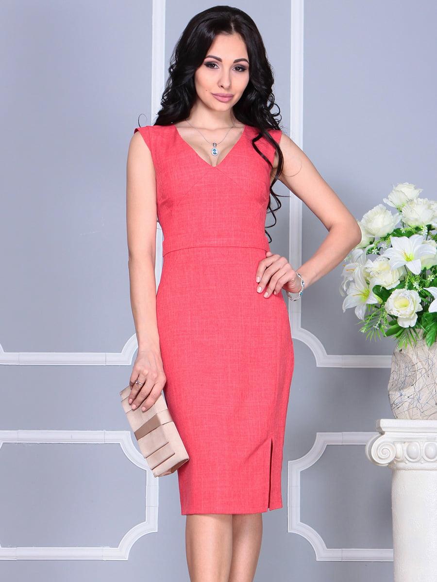 Платье цвета красный коралл | 4160893 | фото 3