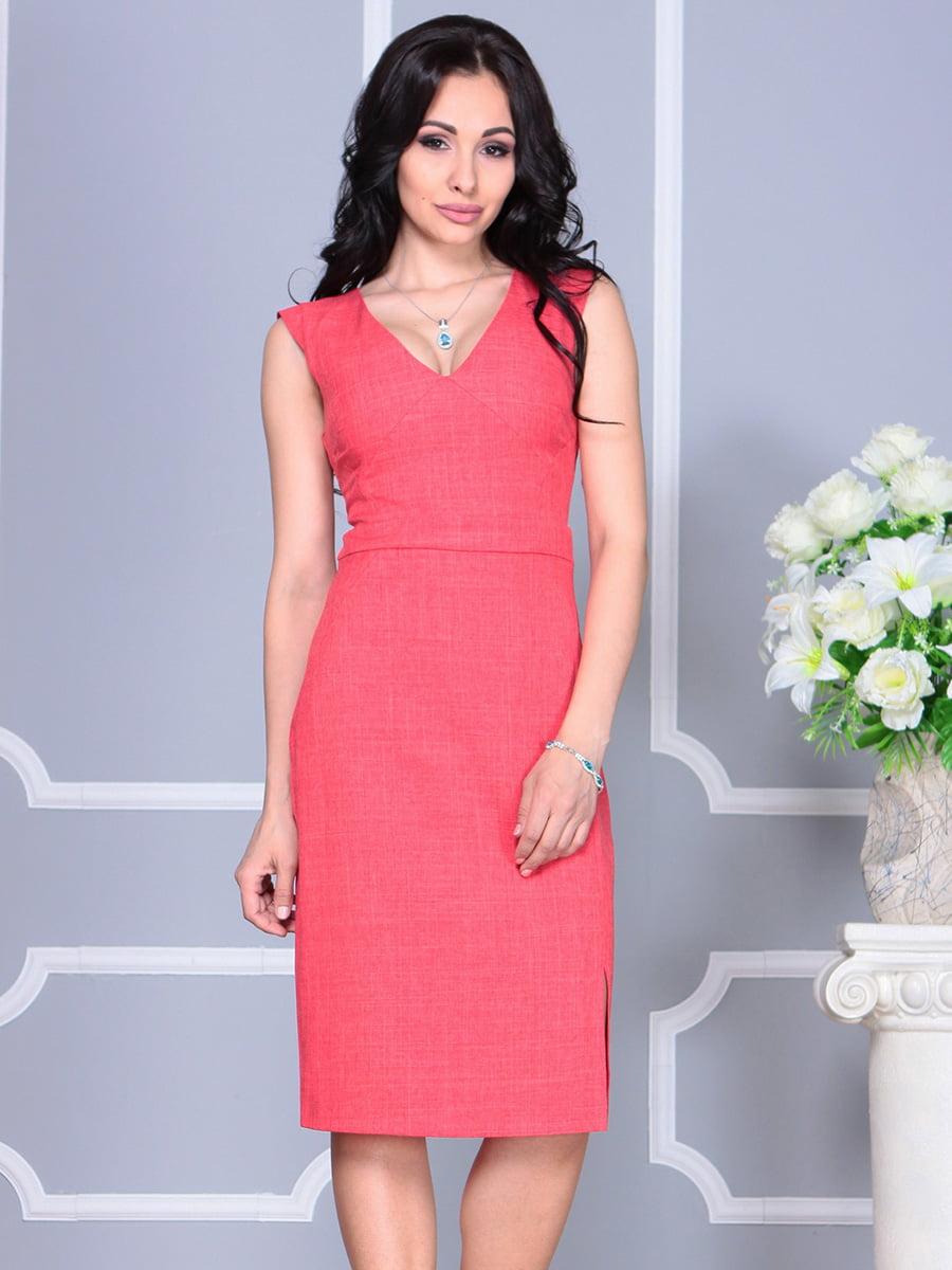 Платье цвета красный коралл | 4160893 | фото 4