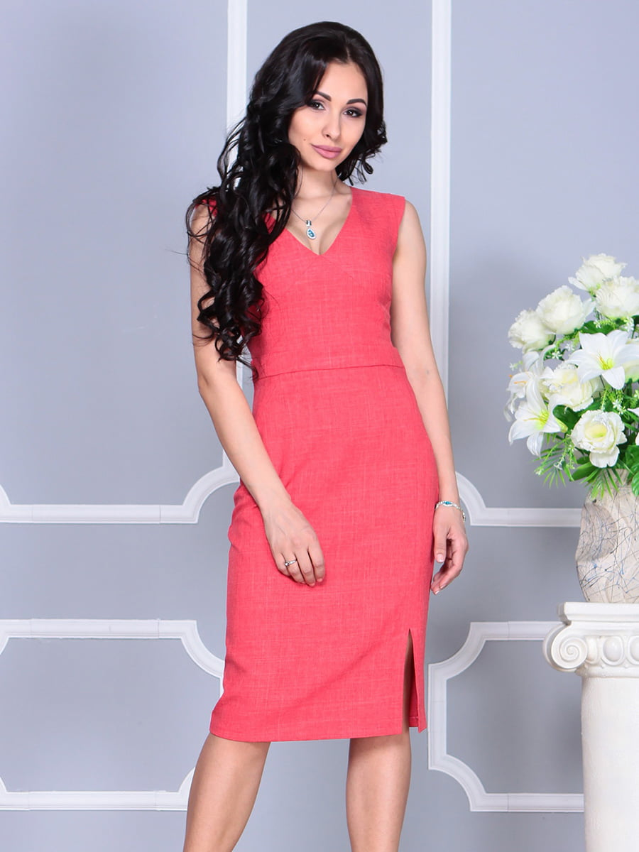 Платье цвета красный коралл | 4160893 | фото 5