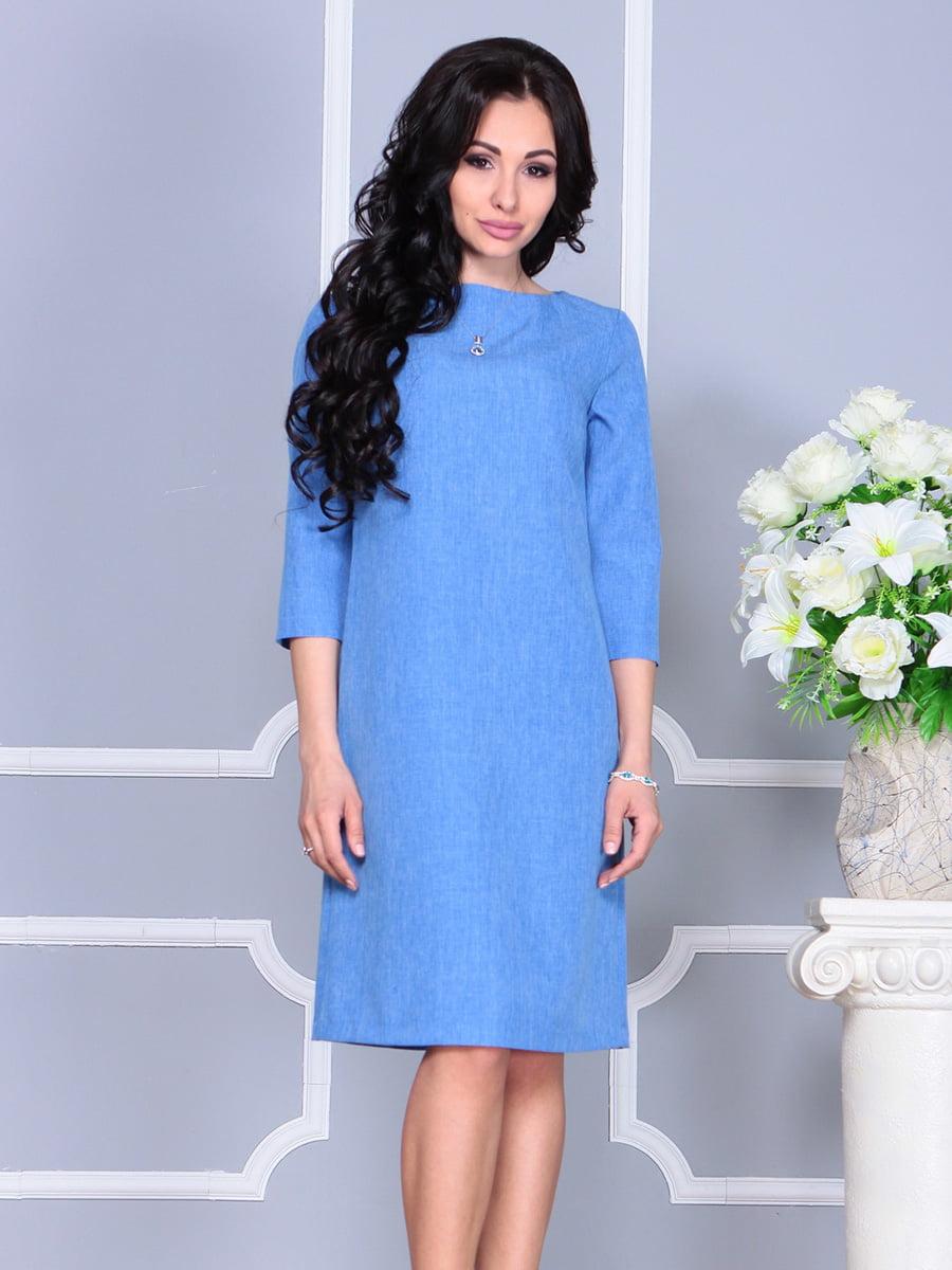 Платье голубое | 4160901 | фото 3