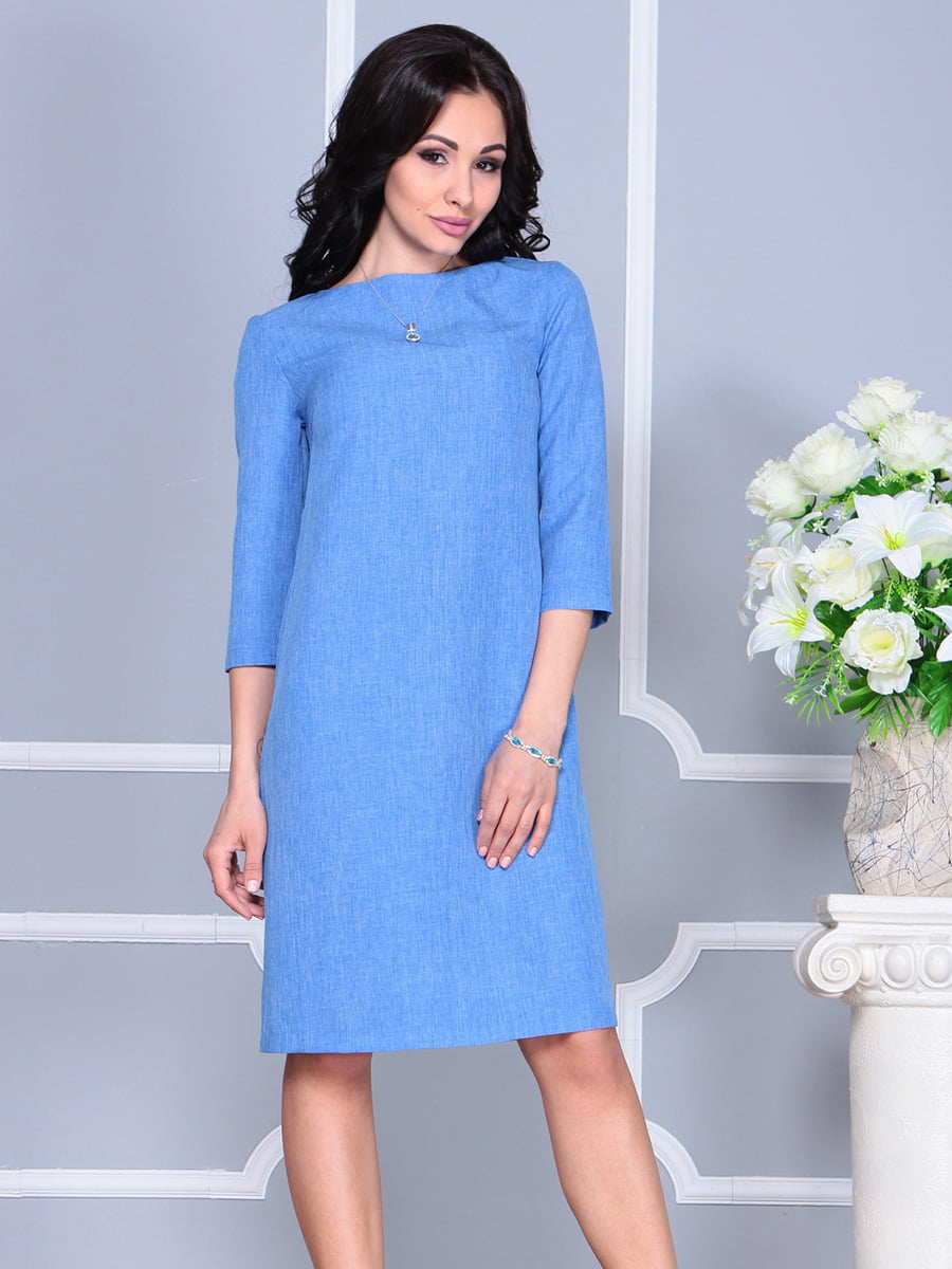Платье голубое | 4160901 | фото 4