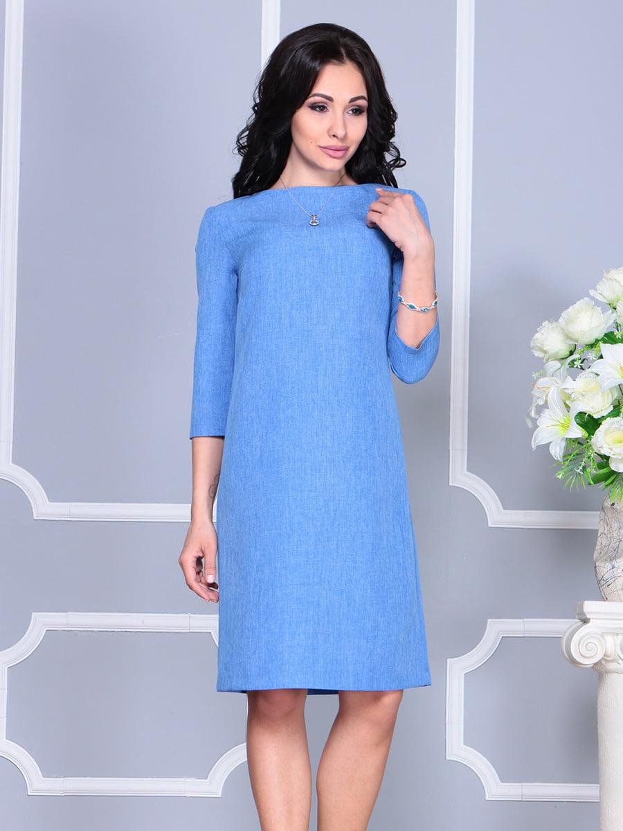 Платье голубое | 4160901 | фото 5