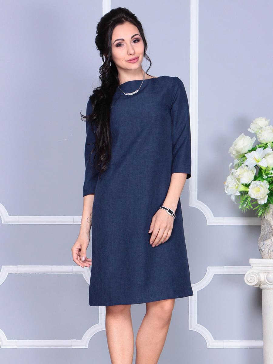 Платье темно-синее | 4160902