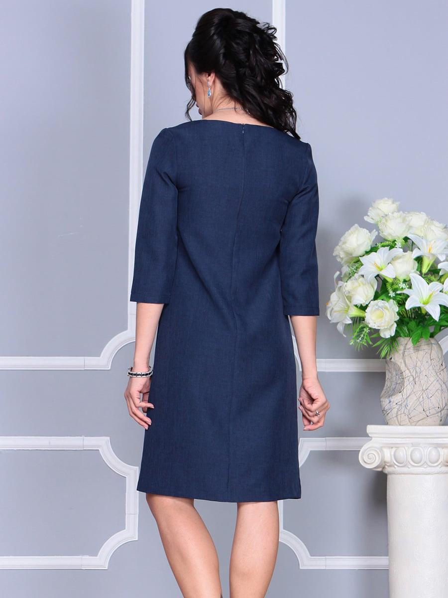 Платье темно-синее | 4160902 | фото 2