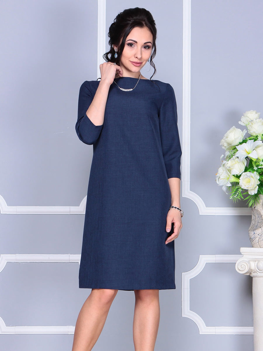 Платье темно-синее | 4160902 | фото 3