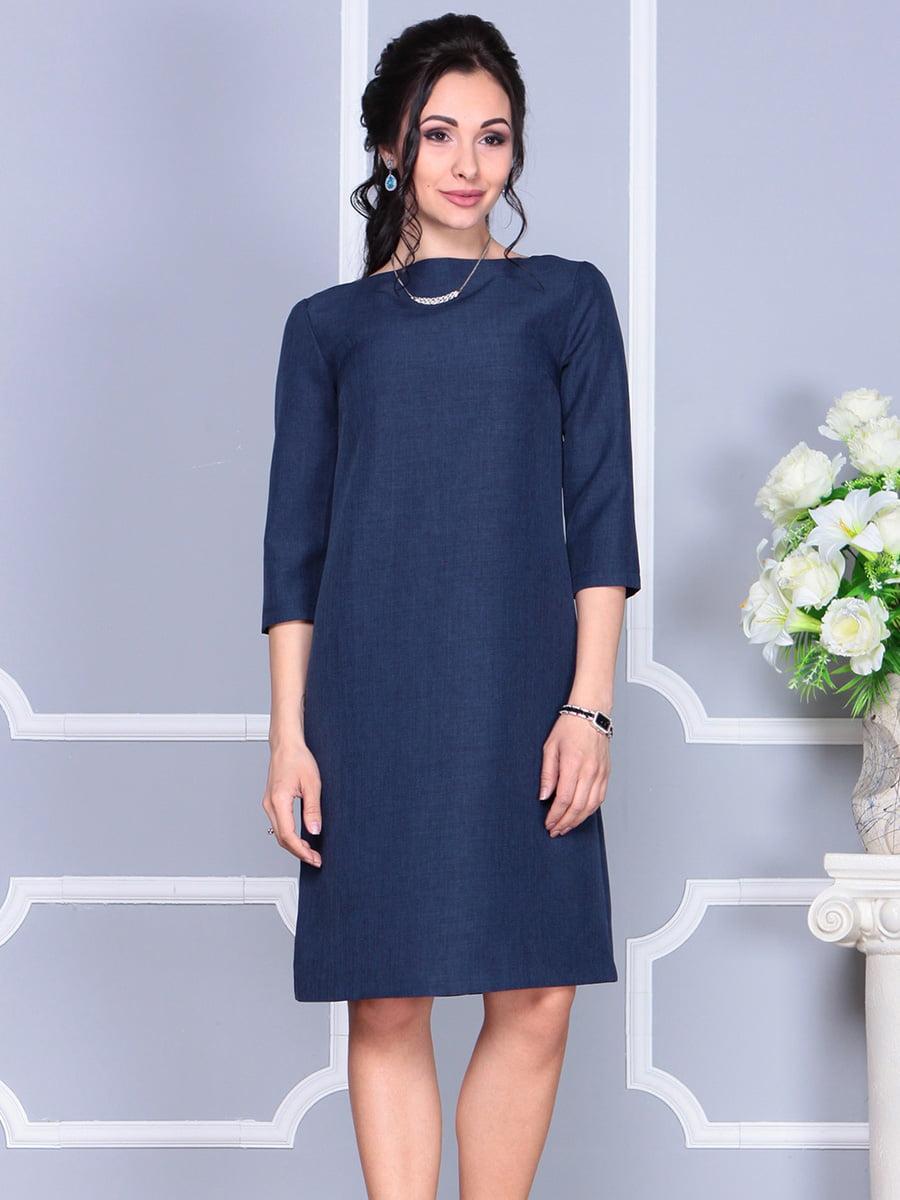 Платье темно-синее | 4160902 | фото 4