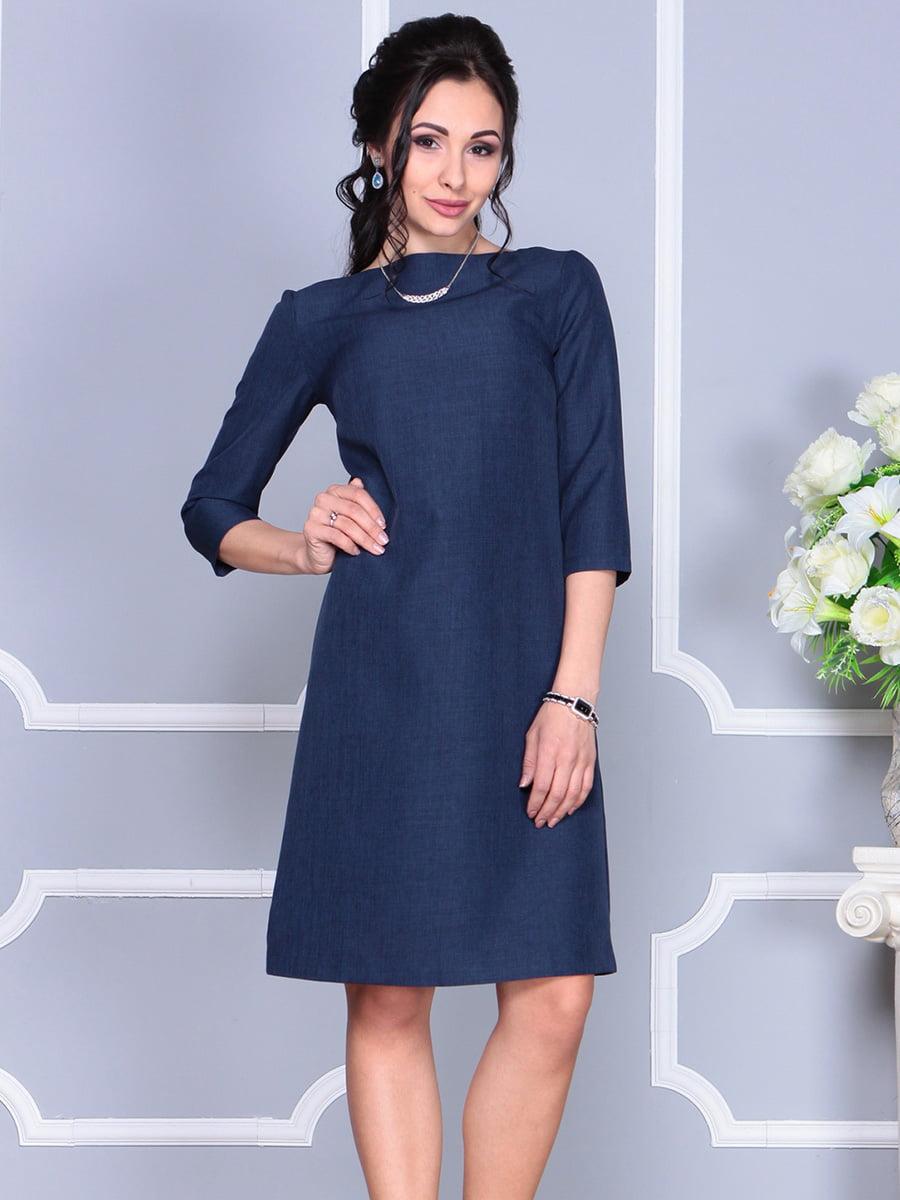 Платье темно-синее | 4160902 | фото 5