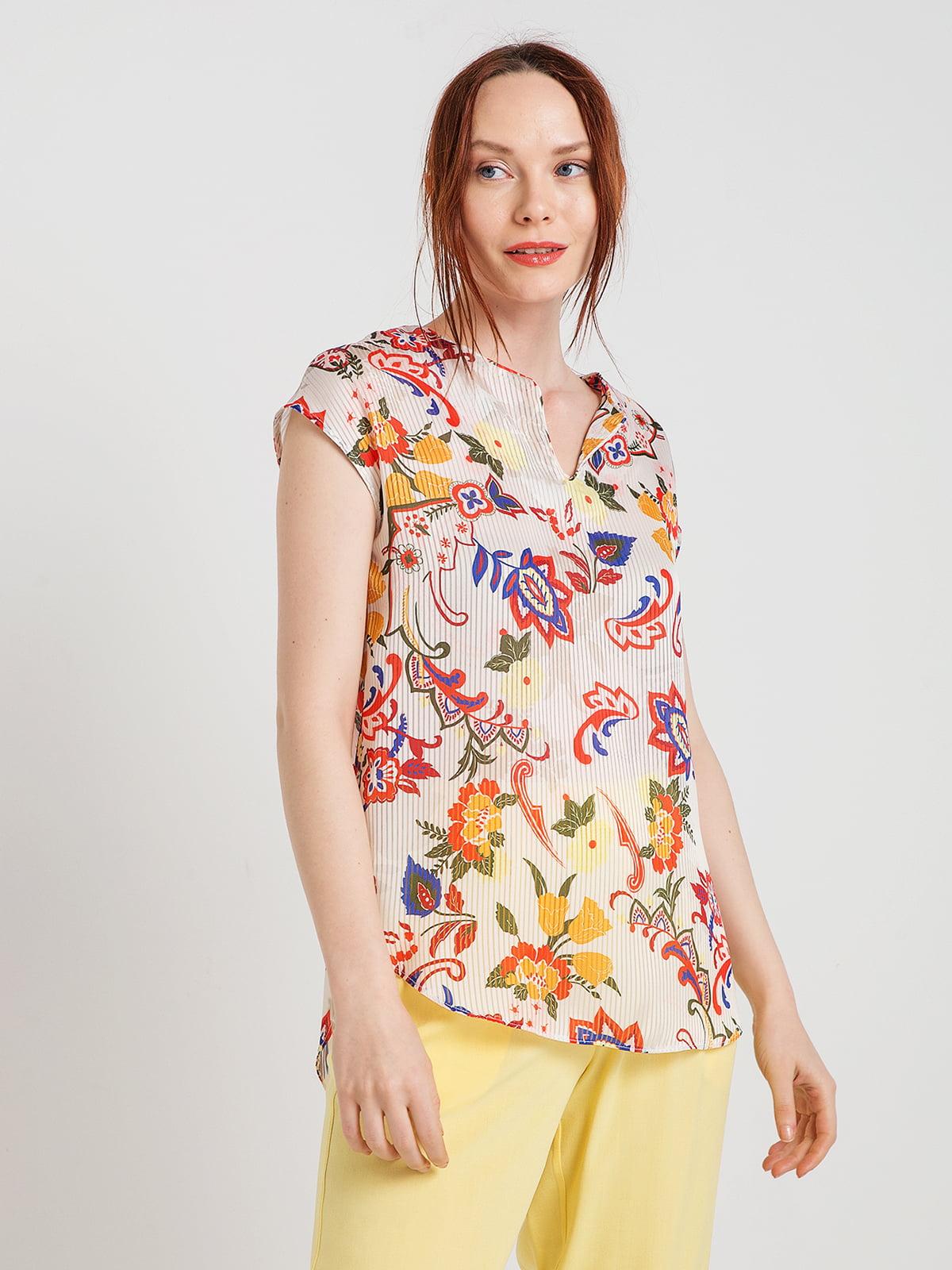 Блуза кремового кольору | 4168092