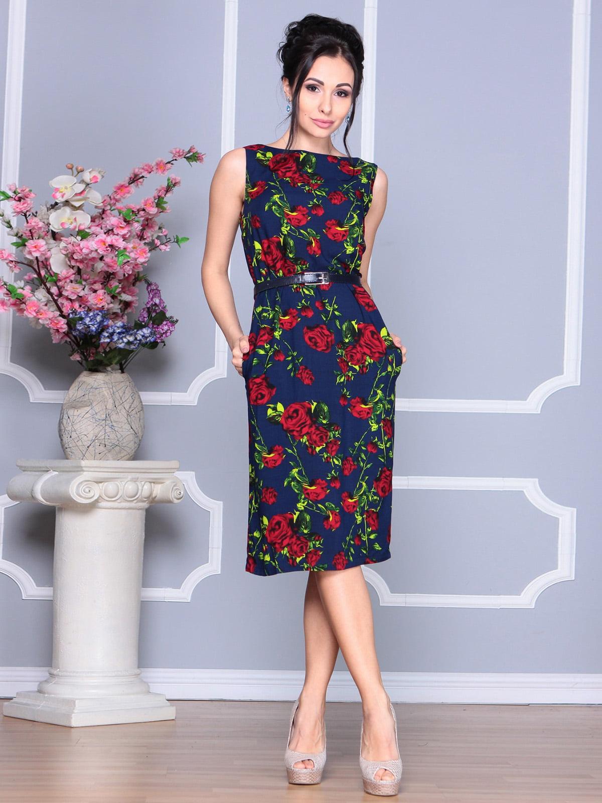 Платье в цветочный принт | 4168844